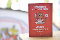 Boro Kids Zone Passport during Stevenage vs Tranmere Rovers, Sky Bet EFL League 2 Football at the Lamex Stadium on 4th August 2018