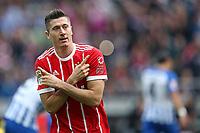 01-10-2017 Football Calcio Bundeslica <br /> Herta Berlino Bayern Monaco <br /> Esultanza Robert Lewandowski <br /> Foto Cathrin Muller /M.i.S./Imago/Insidefoto