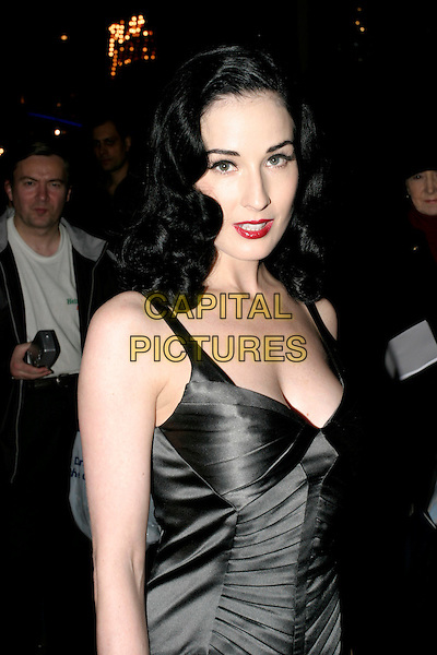 DITA VON TEESE.Cafe De Paris - 80th birthday party, W1, London, UK..October 26th, 2005.Ref: AH.headshot portrait red lipstick plunging neckline.www.capitalpictures.com.sales@capitalpictures.com.© Capital Pictures.