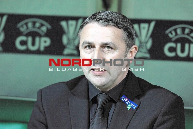 UEFA CUP 2008/2009<br /> Viertelfinale 1/4 Weserstadion 09.04.2009<br /> Werder Bremen (GER) - Udinese Calcio (ITA) 3:1 ( 1:0 )<br /> <br /> Klaus Allofs  (Gesch&auml;ftsf&uuml;hrer Profifu&szlig;ball - GER)<br /> <br /> Foto &copy; nph (  nordphoto  )