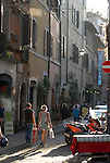 Via Benedetta in the Trastevere district of Rome.