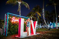 MIAMI, FL - JANUARY 28: A woman poses for a picture as people visit the FOX Sports South Beach studio compound on January 28, 2020 in Miami, USA. The Super Bowl XLIV will take place in the Hard Rock Stadium in Miami between the teams 49ers vs. Chiefs, and it will be played on Sunday, Feb. 2, 2020. (Photo by Eduardo MunozAlvarez/VIEWpress)