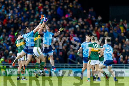 David Moran Kerry in action against Michael Darragh Macauley  Dublin during the Allianz Football League Division 1 Round 3 match between Kerry and Dublin at Austin Stack Park in Tralee, Kerry on Saturday night.