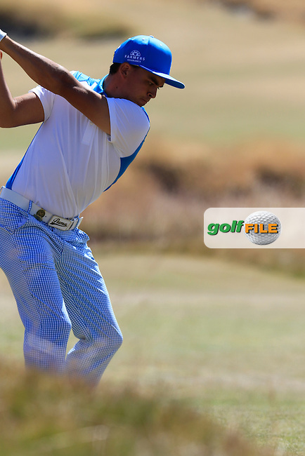Rickie FOWLER (USA) tees off the 18th tee during Friday's Round 2 of the 2015 U.S. Open 115th National Championship held at Chambers Bay, Seattle, Washington, USA. 6/19/2015.<br /> Picture: Golffile | Eoin Clarke<br /> <br /> <br /> <br /> <br /> All photo usage must carry mandatory copyright credit (&copy; Golffile | Eoin Clarke)
