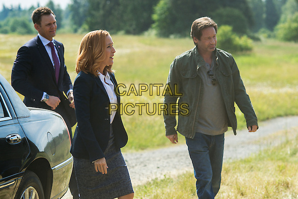 The X-Files (2016)<br /> (Season 1, Episode 1, &quot;My Struggle&quot;)<br /> Guest star Joel McHale, Gillian Anderson and David Duchovny<br /> *Filmstill - Editorial Use Only*<br /> CAP/KFS<br /> Image supplied by Capital Pictures