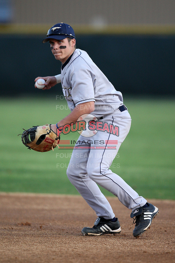 March 13, 2010:  First Baseman Kyle Hallett of the Akron Zips vs. the Yale Bulldogs in a game at Henley Field in Lakeland, FL.  Photo By Mike Janes/Four Seam Images