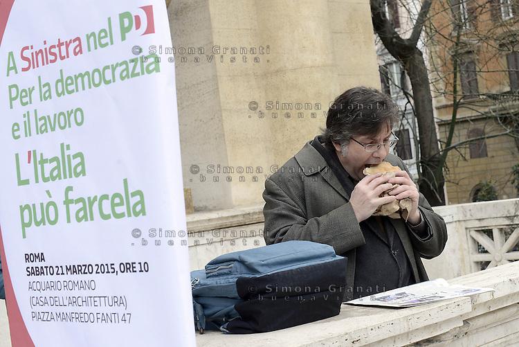 Roma, 21 Marzo 2015<br /> Assemblea della sinistra del Partito Democratico all'Acquario di Roma.<br /> <br /> A sinistra nel PD,. Per la Democrazia e il lavoro.
