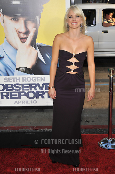 "Anna Faris at the Los Angeles premiere of her new movie ""Observe and Report"" at the Grauman's Chinese Theatre, Hollywood..April 6, 2009  Los Angeles, CA.Picture: Paul Smith / Featureflash"