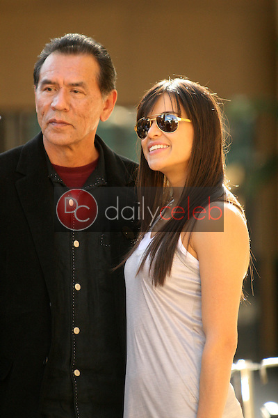 Wes Studi and Michelle Rodriguez<br /> at the induction ceremony for James Cameron into the Hollywood Walk of Fame, Hollywood Blvd, Hollywood, CA.  12-18-09<br /> David Edwards/Dailyceleb.com 818-249-4998