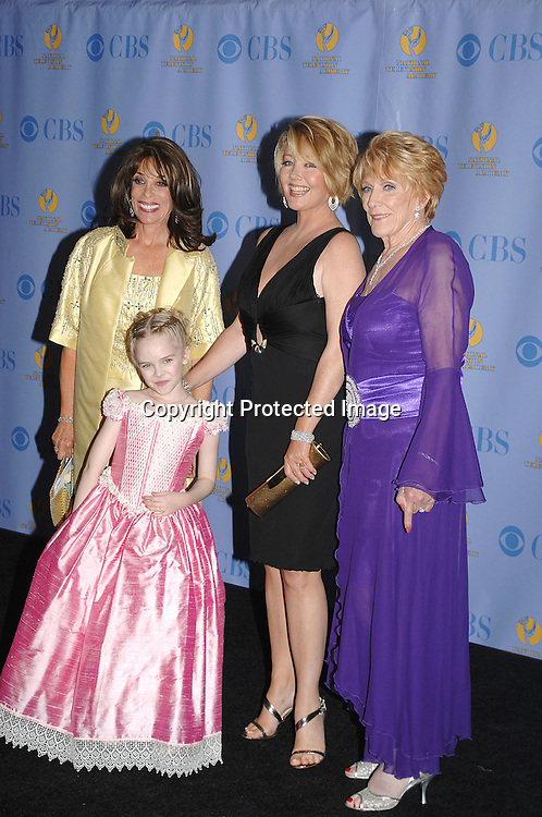Kate Linder, Darcy Rose Byrnes, Melody Thomas Scott and Jeanne Cooper..posing for photographers in the Press Room at The 34th Annual Daytime Emmy Awards on June 15,2007 at The ..Kodak Theatre in Hollywood, California. ..Robin Platzer, Twin Images......212-935-0770