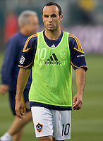 LA Galaxy forward & team Captain Landon Donovan (10) warms up before the match. The LA Galaxy and Toronto FC played to a 0-0 draw at Home Depot Center stadium in Carson, California on Saturday May 15, 2010.  .