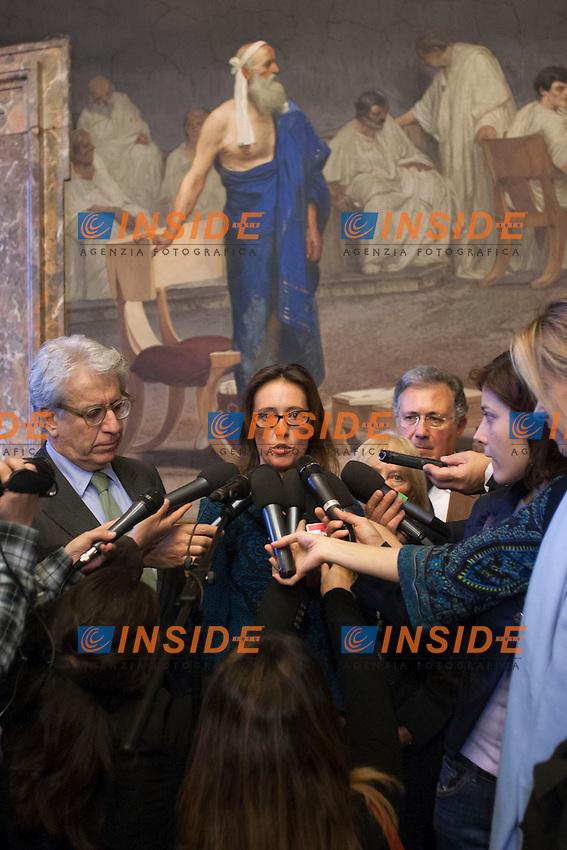 Ilaria Cucchi<br /> Roma 05-11-2014 Senato. Il presidente del Senato incontra la famiglia Cucchi.<br /> President of Senate meets Cucchi's family.<br /> Photo Samantha Zucchi Insidefoto