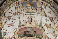 Ceiling fresco located just outside the Sistine Chapel, Vatican Museum, Rome, Italy