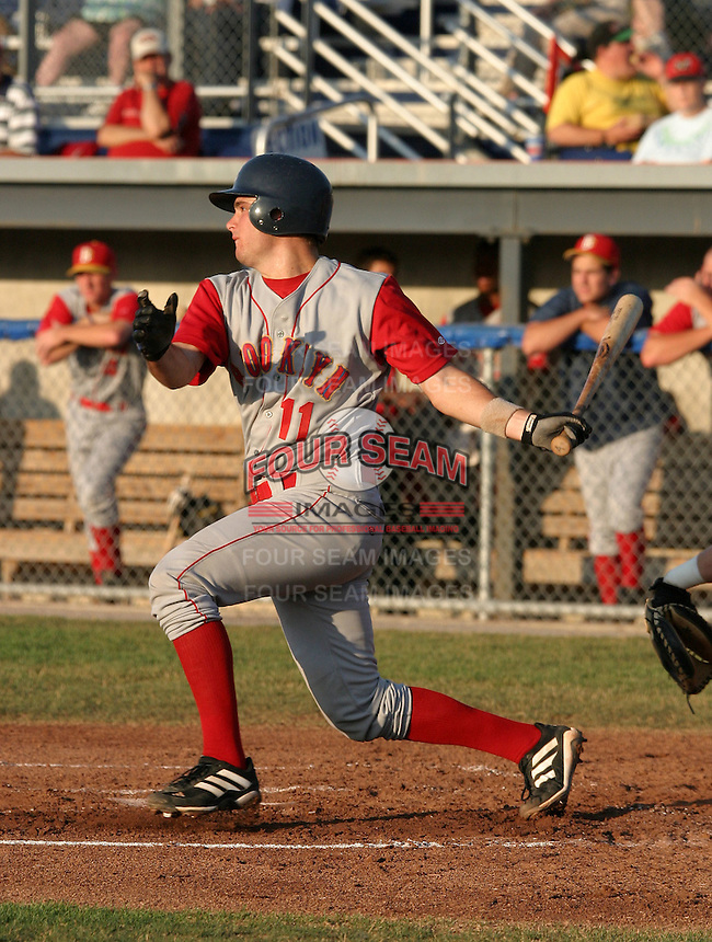 July 25, 2005:  Catcher Drew Butera of the Brooklyn Cyclones during a game at Dwyer Stadium in Batavia, NY.  Brooklyn is the NY-Penn League Class-A affiliate of the New York Mets.  Photo by:  Mike Janes/Four Seam Images