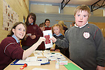 St Ita's Students.Ronan O'Callaghan and Clare Ivory..Photo: Fran Caffrey/www.newsfile.ie...