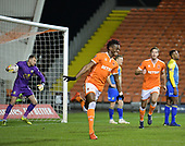 18-12-2018  FAC2 Replay Blackpool v Solihull Moor<br /> <br /> Armand Gnanduillet, celebrates his Blackpool opener.