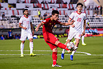 Do Duy Manh of Vietnam (C) in action during the AFC Asian Cup UAE 2019 Group D match between Vietnam (VIE) and I.R. Iran (IRN) at Al Nahyan Stadium on 12 January 2019 in Abu Dhabi, United Arab Emirates. Photo by Marcio Rodrigo Machado / Power Sport Images