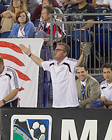New England Revolution head coach Steve Nicol. The New England Revolution tied Columbus Crew, 2-2, at Gillette Stadium on September 25, 2010.