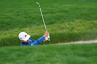 Xander Schauffele (USA) on the 5th green during the 2nd round at the PGA Championship 2019, Beth Page Black, New York, USA. 18/05/2019.<br /> Picture Fran Caffrey / Golffile.ie<br /> <br /> All photo usage must carry mandatory copyright credit (&copy; Golffile | Fran Caffrey)