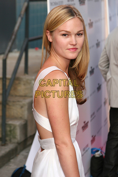 "JULIA STILES .New York Screening of ""Inglourious Basterds"" held at the SVA Theatre, New York, NY, USA, .August 17th 2009..half length white sleeveless dress looking over shoulder cut out .CAP/LNC/TOM.©LNC/Capital Pictures."