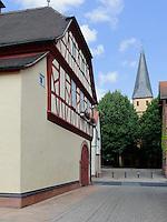 Altes Rathaus in Kleinheubach am Main, Bayern, Deutschland