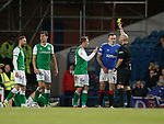 05.02.2020 Rangers v Hibs: George Edmundson booked