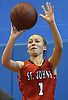 Meghan White #1 of St. John the Baptist drains a jumper during a non-league girls basketball game against North Babylon at Robert Moses Middle School in North Babylon on Saturday, Dec. 22, 2018. North Babylon won by a score of 71-61.