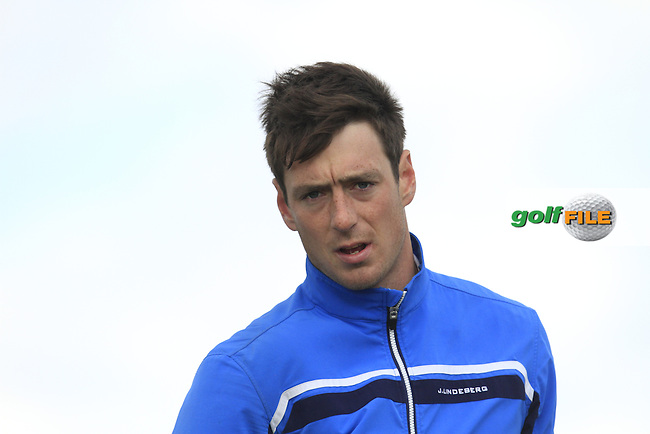 Colin Fairweather (Knock) on the 14th tee during Round 3 of the Irish Amateur Open Championship at Royal Dublin on Saturday 9th May 2015.<br /> Picture:  Thos Caffrey / www.golffile.ie