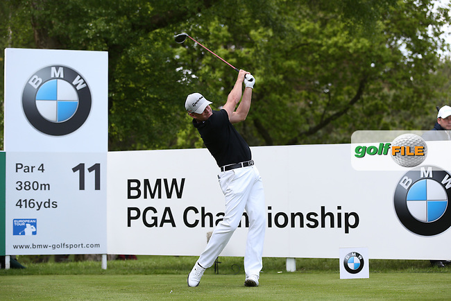 Jamie DONALDSON (WAL) during Round One of the 2015 BMW PGA Championship over the West Course at Wentworth, Virginia Water, London. Picture David Lloyd, www.golffile.ie: 21/05/2015