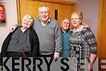 Ann Marie Griffin, PJ Hurley, Dan and Margaret O'Sullivan enjoying the Sliabh Luachra Active Retired Network Tea Dance in An Riocht Castleisland on Sunday