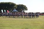 November 2, 2013; Malibu, CA, USA; Saint Mary's, Portland, Santa Clara, Pepperdine, Brigham Young, San Diego, Gonzaga, San Diego, and Loyola Marymount men's cross country teams during the WCC Cross Country Championship at Alumni Park.