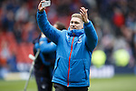 Martyn Waghorn taking videos at the end