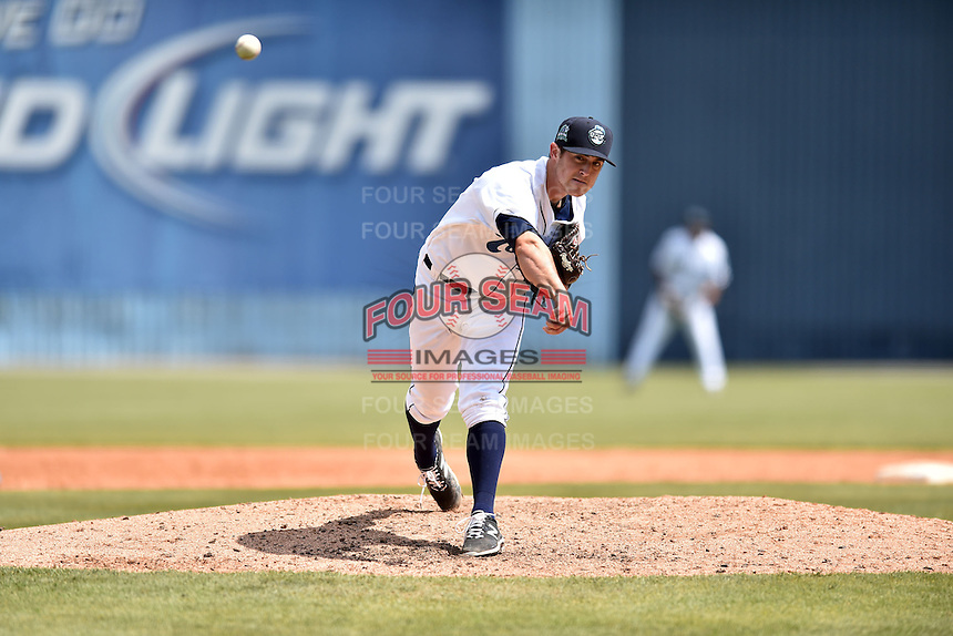 Asheville Tourists starting pitcher Zach Jemiola (29) delivers a pitch during a game against the Lexington Legends on May 3, 2015 in Asheville, North Carolina. The Legends defeated the Tourists 6-3. (Tony Farlow/Four Seam Images)