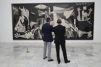 MADRID, SPAIN &ntilde; JULY 07: King Felipe and Barack Obama visit Guernica painting. Felipe VI of Spain gave a dedicated book about Guernica to the former president of the United States Barack Obama during their tour at the Reina Sofia museum in Madrid, Spain on the 7th of July of 2018. <br /> ***NO SPAIN***<br /> CAP/MPI/RJO/Casa de S.M. el Rey<br /> &copy;RJO/MPI/Capital Pictures