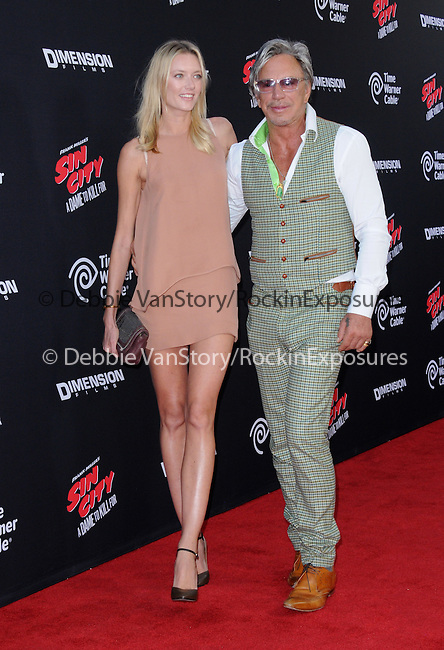 Anastassija Makarenko and Mickey Rourke attends The Dimension Film's L.A. Premiere of FRANK MILLER'S SIN CITY: A DAME TO KILL FOR held at  The TCL Chinese Theatre in Hollywood, California on August  19,2014                                                                               © 2014 Hollywood Press Agency