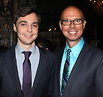 "Jim Parsons & Richard Ridge.pictured at the Opening Night After Party for the Roundabout Theatre Company's Broadway Production of  ""Harvey"" at Studio 54 New York City June 14, 2012"