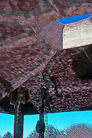 Paolo Soleri: Cosanti Foundation. Roof over pool. Photo '77.
