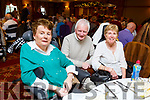 Enjoying the North Kerry Wheelchair Associations Christmas party in the Meadowlands Hotel on Sunday. L to r: Mary Millward, Michael and Marie McNamara