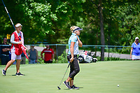 Brooke M. Henderson (CAN) barely misses her birdie putt on 2 during Sunday's final round of the 72nd U.S. Women's Open Championship, at Trump National Golf Club, Bedminster, New Jersey. 7/16/2017.<br /> Picture: Golffile | Ken Murray<br /> <br /> <br /> All photo usage must carry mandatory copyright credit (&copy; Golffile | Ken Murray)