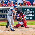 30 April 2017: New York Mets second baseman Neil Walker at bat in the 5th inning against the Washington Nationals at Nationals Park in Washington, DC. The Nationals defeated the Mets 23-5 in the third game of their weekend series. Mandatory Credit: Ed Wolfstein Photo *** RAW (NEF) Image File Available ***
