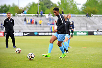 Boyds, MD - Saturday May 6, 2017: Maya Hayes prior to a regular season National Women's Soccer League (NWSL) match between the Washington Spirit and Sky Blue FC at Maureen Hendricks Field, Maryland SoccerPlex.