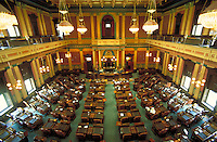 House Legislative chamber after renovation. Lansing Michigan USA downtown.