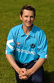 ICC T20 World Cup - Scotland cricketers - Glenn Rogers (Stirling County CC) photographed in the national teams' newly designed kit - Picture by Donald MacLeod - 29 May 2009