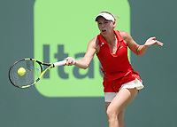 www.acepixs.com<br /> <br /> April 1 2017, Key Biscayne<br /> <br /> Johanna Konta of Great Britain defeats Caroline Wozniacki of Denmark in the woman's finals on day thirteen of the 2017 Miami Open at Crandon Park Tennis Center on April 1, 2017 in Key Biscayne, Florida.<br /> <br /> By Line: Solar/ACE Pictures<br /> <br /> ACE Pictures Inc<br /> Tel: 6467670430<br /> Email: info@acepixs.com<br /> www.acepixs.com