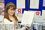 Winners of the Kerry county library writing competition O?rlaith Reynolds, Scoil Mhuire, Killorglin