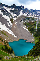 "Nestled high and deep in the Mt. Sneffels Wilderness Area in southwest Colorado, lie the ""Blue Lakes.""  Sitting at an elevation of approximately 11, 000feet, these stunning lakes get their turquoise color from minerals dissolved in the water."