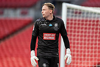 Wycombe Wanderers' goalkeeper Ryan Allsop <br /> <br /> Photographer Andrew Kearns/CameraSport<br /> <br /> Sky Bet League One Play Off Final - Oxford United v Wycombe Wanderers - Monday July 13th 2020 - Wembley Stadium - London<br /> <br /> World Copyright © 2020 CameraSport. All rights reserved. 43 Linden Ave. Countesthorpe. Leicester. England. LE8 5PG - Tel: +44 (0) 116 277 4147 - admin@camerasport.com - www.camerasport.com