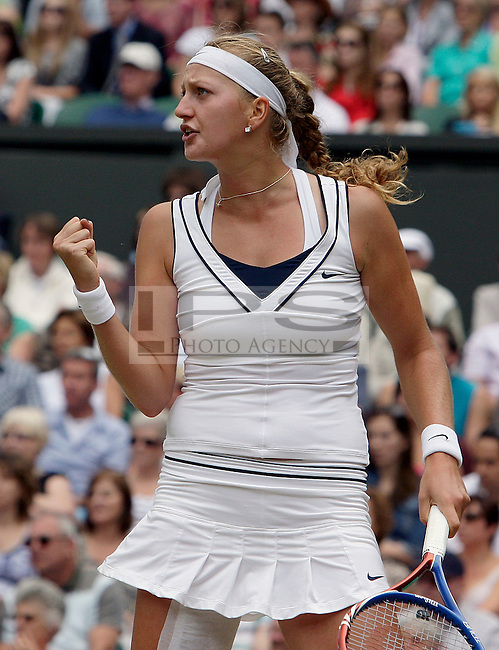 Petra Kvitova(CZE) Ladies' Singles - Semifinal Petra Kvitova(CZE)[8] defeated   Victoria Azarenka(BLR)[4] on Day 10 of the 125th Wimbledon Championship in  Wimbledon London   on 30/06/2011. Picture By Marcello Pozzetti  ©IPS   Photo Agency:21 Delisle Road  London SE28 0JD - Personal mobile: 07973 308 835 ...