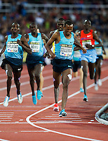 22 AUG 2013 - STOCKHOLM, SWE - Ayanleh Souleiman of Djibouti wins the men's 1500m race in a time of 3:33:59 during the DN Galen meet of the 2013 Diamond League at the Stockholm Olympic Stadium in Stockholm, Sweden (PHOTO COPYRIGHT © 2013 NIGEL FARROW, ALL RIGHTS RESERVED)
