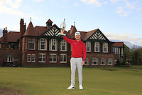 Joshua McMahon (Wallisey) winner of the Lytham Trophy 2019, held at Royal Lytham & St. Anne's, Lytham, Lancashire, England. 05/05/19<br /> <br /> Picture: Thos Caffrey / Golffile<br /> <br /> All photos usage must carry mandatory copyright credit (© Golffile | Thos Caffrey)